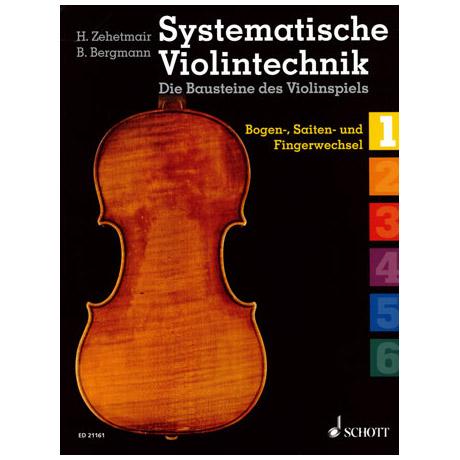 Zehetmair/Bergmann: Systematische Violintechnik Band 1