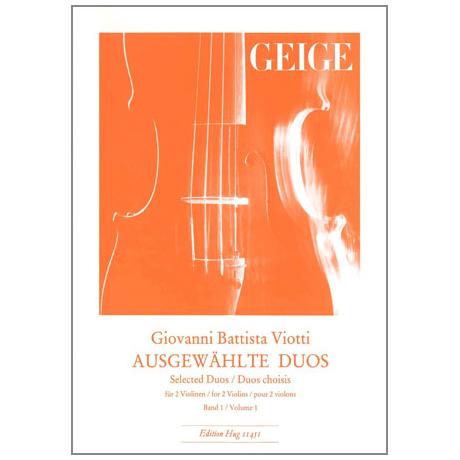 Viotti, G.B.: Ausgewählte Duos Band 1