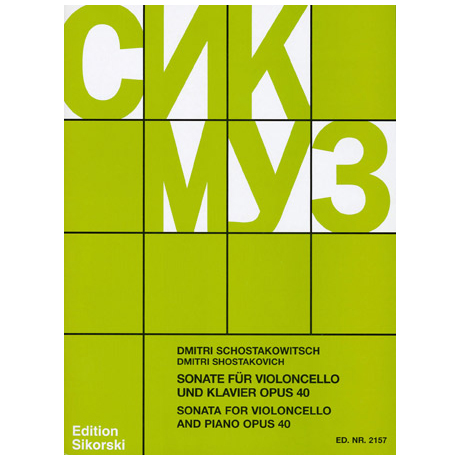 Schostakowitsch, D.: Sonate Op.40