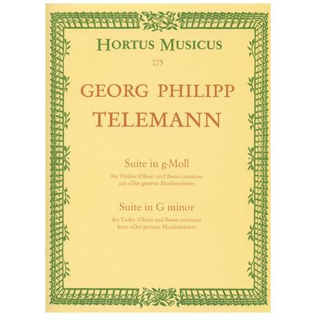 Telemann, G.P.: Suite in g-Moll TWV 41:g4
