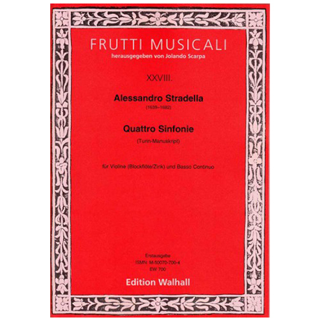 Stradella, A.: Sinfonie per Violino solo e Basso – Bd.2 (Turin)