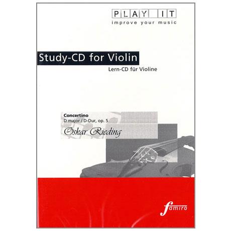 Rieding, O.: Concertino in D-Dur op. 5 Play-Along-CD (nur CD)
