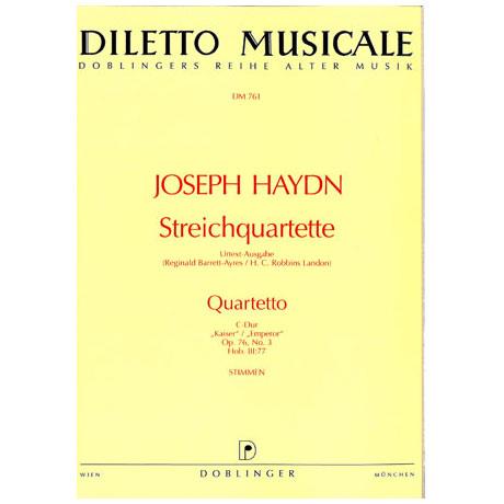 Haydn, Joseph: Streichquartett C-Dur op.76,3 HOB.III:77