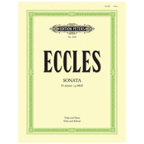 Eccles, H.: Violasonate g-Moll