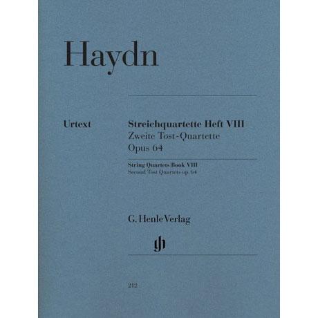 Haydn, J.: Streichquartette Heft 8: Op. 64/1-6 (Zweite Trost-Quartette) Urtext