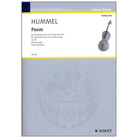 Hummel: Poem für Violoncello solo und 13 Solo-Streicher