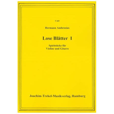 Ambrosius, H.: Lose Blätter Nr.1