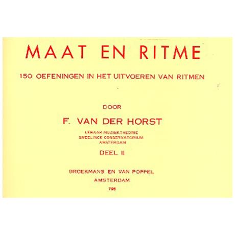 van der Horst, F.: Maat en ritme Bd.2