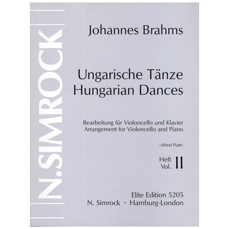 Brahms, J.: Ungarische Tänze Band 2 (Nr.6-10)