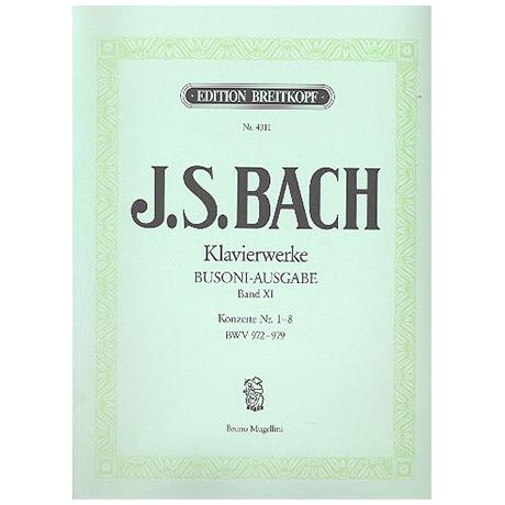 Bach, J.S.: Konzerte nach verschiedenen Meistern Nr. 1-8 BWV 972-979