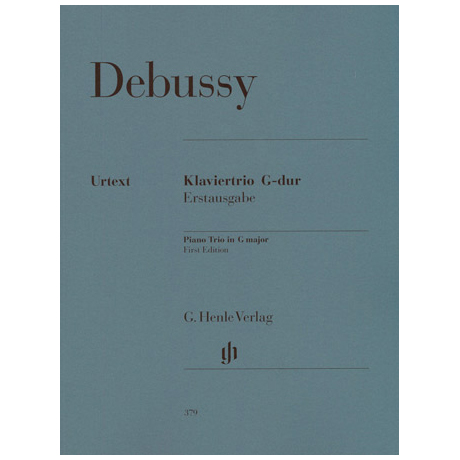 Debussy, C.: Klaviertrio in G-Dur Urtext, Erstausgabe