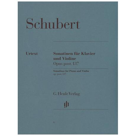 Schubert, F.: Sonatinen D-Dur, a-Moll, g-Moll Op. post 137 Urtext