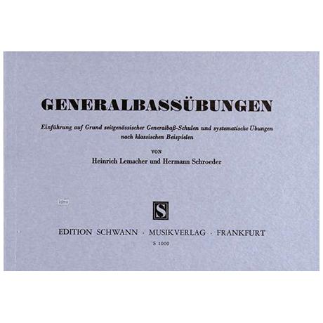 Lemacher/Schroeder: Generalbassübungen