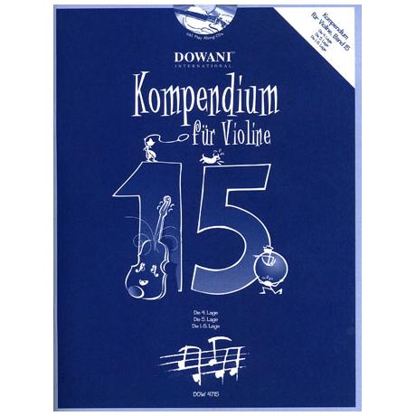Kompendium für Violine - Band 15 (+ 2 CD's)
