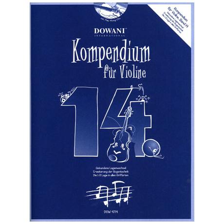 Kompendium für Violine - Band 14 (+ 2 CD's)