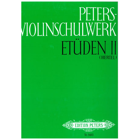 Peters Violinschulwerk Etüden Band 2
