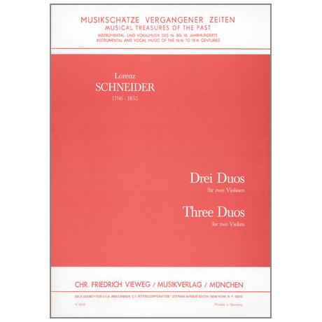 Schneider, L.: 3 Duos Op.4