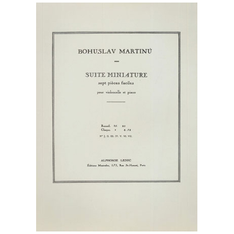 Martinu, B.: Suite miniature - 7 pièces faciles Nr.1