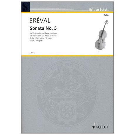 Bréval, J.B.: Sonate Nr.5 G-Dur