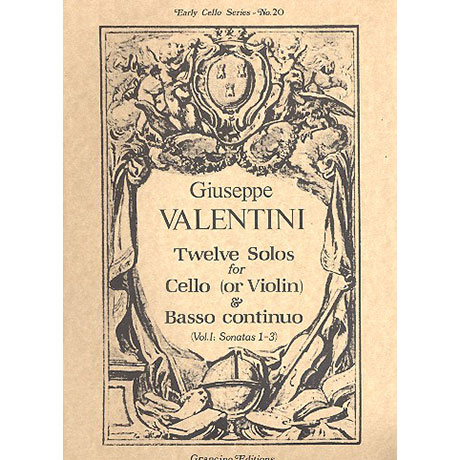 Valentini, G.: 12 Solos Band 1 (Nr.1-3)