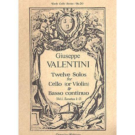 Valentini, G.: 12 Solos Band 1 (Nr.1-3)