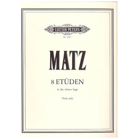 Matz, A.: 8 Etüden (3. Lage)