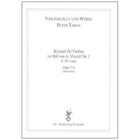 Taban, P.: Violinkonzert im Stil von A. Vivaldi Nr. 1 Op. 7/a