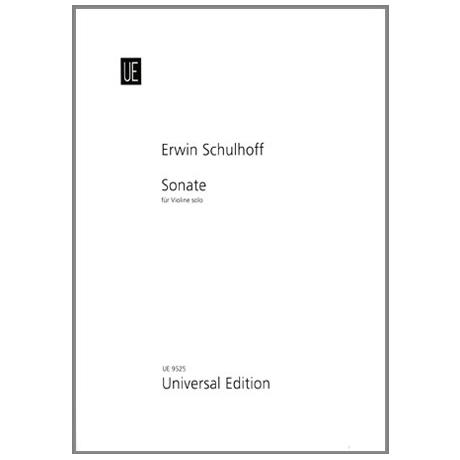 Schulhoff, E.: Sonate