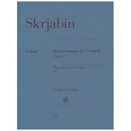 Skrjabin, A.: Klaviersonate f-Moll Op. 6 Nr. 1