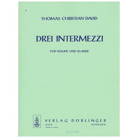David, T.: 3 Intermezzi