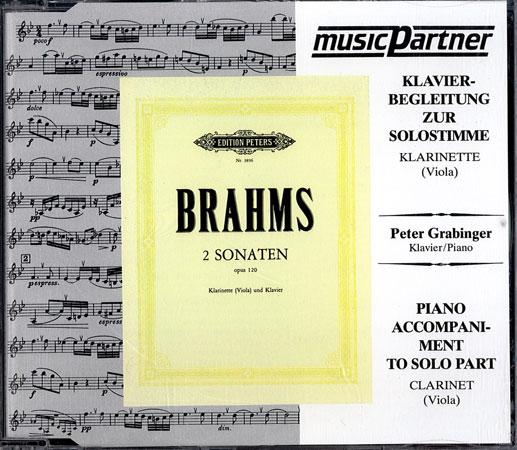 Brahms, J.: Sonaten Op. 120/1-2 f-Moll und Es-Dur Compact-Disc CD