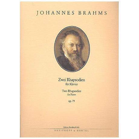 Brahms, J.: Zwei Rhapsodien Op. 79