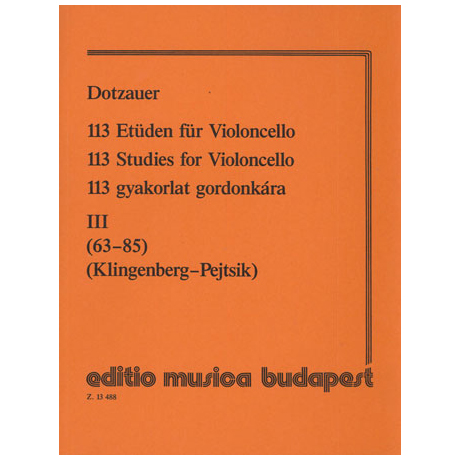 Dotzauer: 113 Etüden Band 3