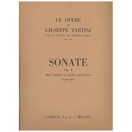 Tartini, G.: Sonaten Op.1 Band 1