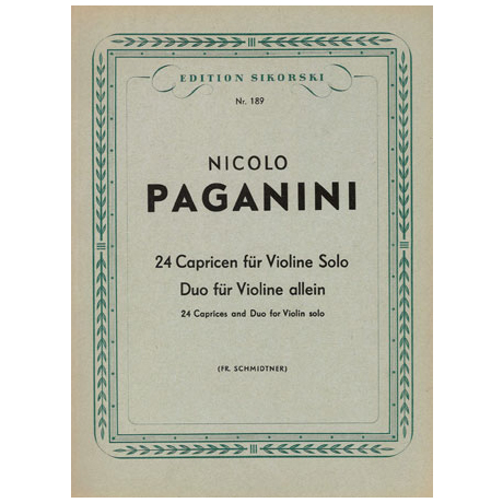 Paganini, N.: 24 Capricen und Duo für Violine allein