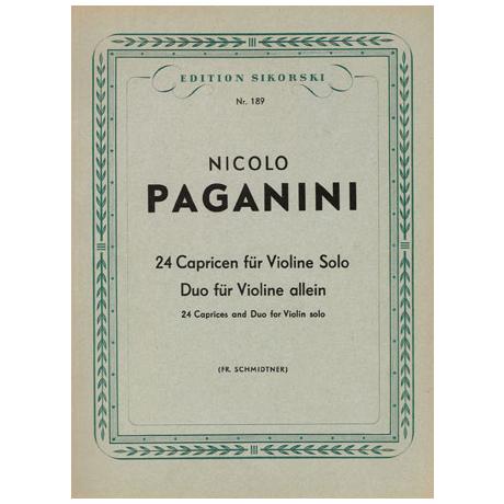 Paganini, Nicolo: 24 Capricen und Duo für Violine allein