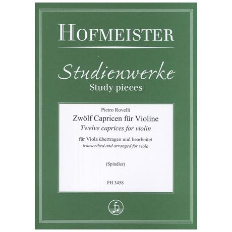 Rovelli, P.: 12 Capricen für Viola