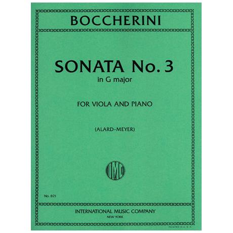 Boccherini, L.: Sonate Nr. 3 in G-Dur