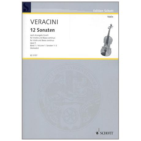 Veracini, F.M.: 12 Sonaten nach Corellis Op.5 Band 1