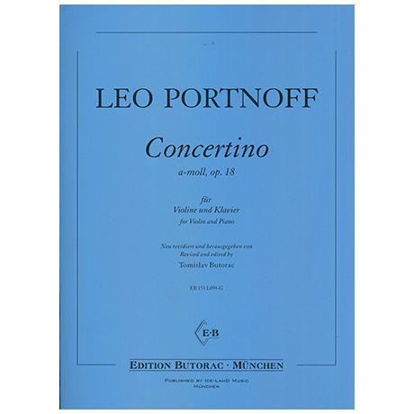 Portnoff, L.: Concertino Op.18 a-Moll