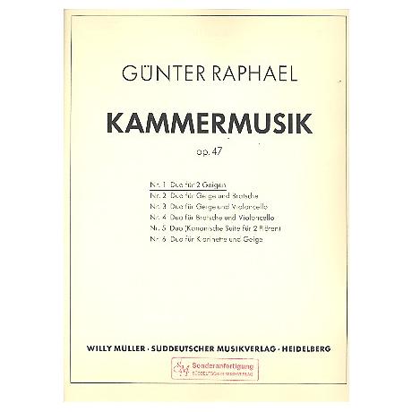 Raphael, G.: Duo Op.47 Nr.1