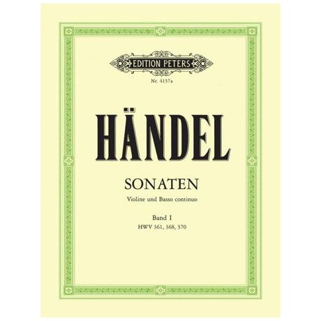 Händel: Sonaten Band 1 HWV 361/368/370