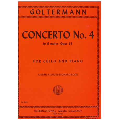 Goltermann, G.: Violoncellokonzert Nr. 4 Op. 65 G-Dur