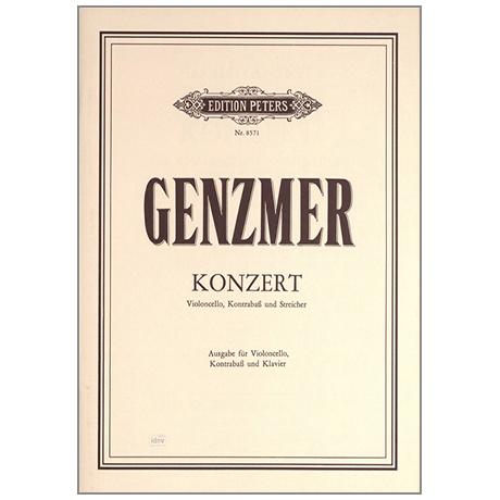Genzmer, H.: Konzert für Violoncello, Kontrabass und Orchester