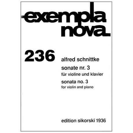 Schnittke, A.: Sonate Nr. 3