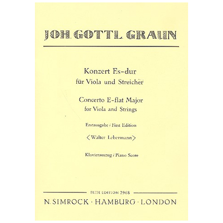 Graun, J. G.: Violakonzert Es-Dur