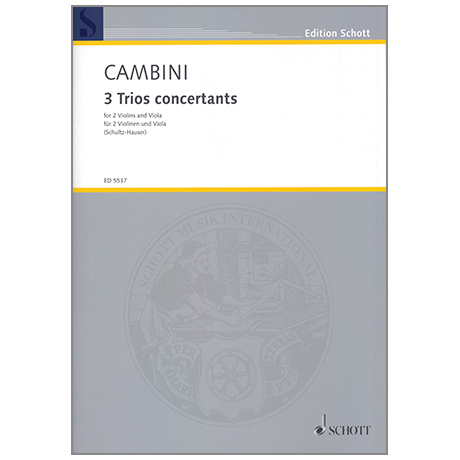 Cambini, G. G.: 3 Trios concertants