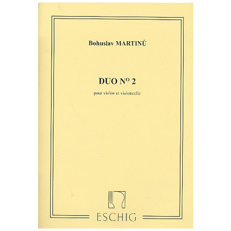 Martinů, B.: Duo Nr. 2 H. 371 (1958)