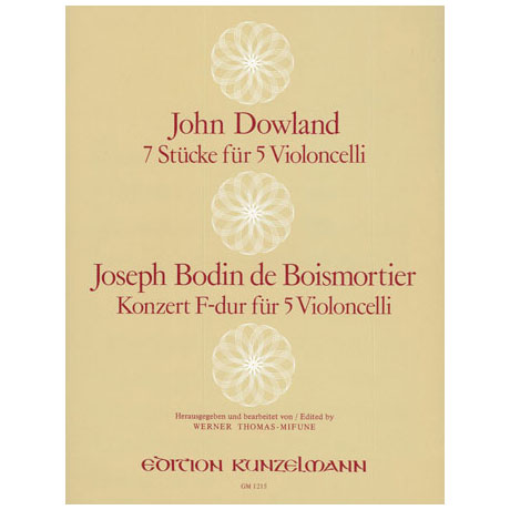 Dowland, J.: 7 Stücke / Boismortier, J.B.d.: Konzert F-Dur