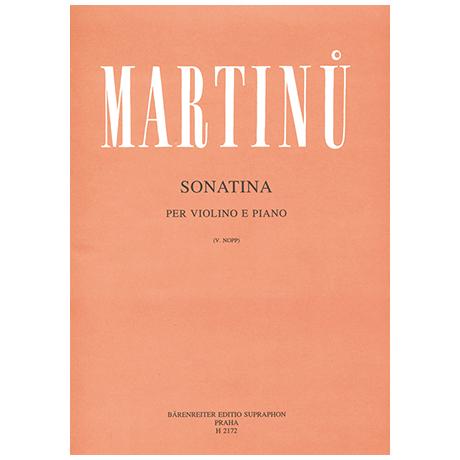 Martinů, B.: Violinsonatina